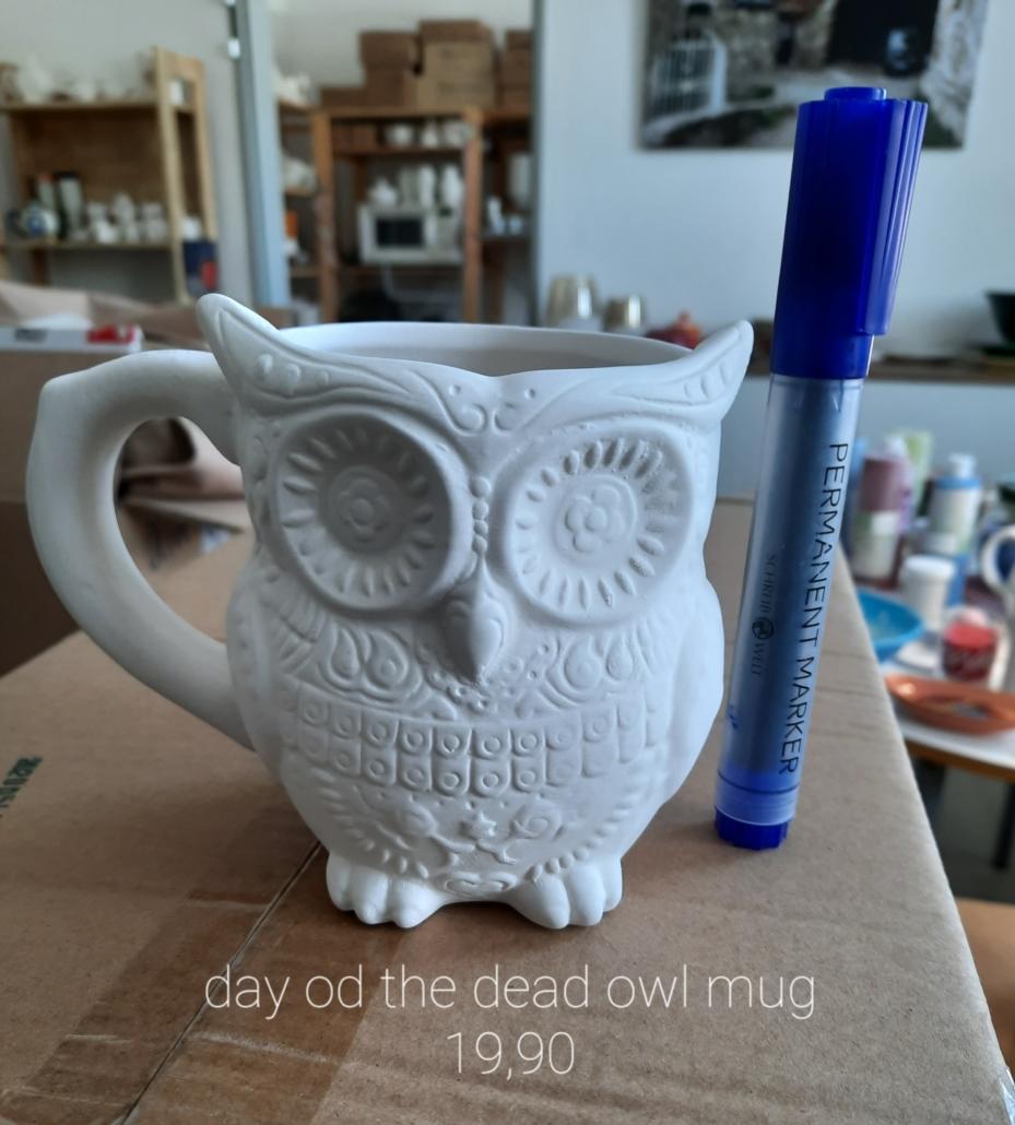 day of the dead owl mug 19,90€